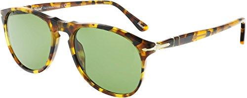 Persol PO9649S Sunglasses 10524E-52 - Madreterra Frame, Green - Polarized Persol 649