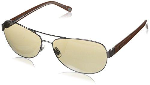 Fossil FOS2004S Aviator Sunglasses,Ruthenium,58 - Sunglasses Ruthenium