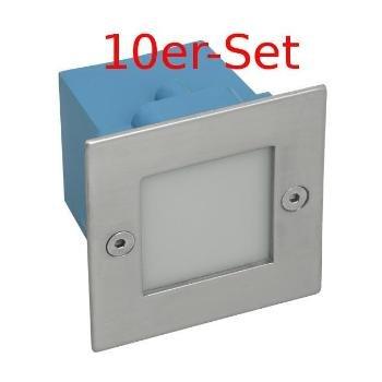 10er-Set Wandeinbaustrahler LED 230V Warm-Weiß