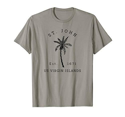 (Retro Cool St. John USVI Beach Palm Tree Novelty Souvenir)