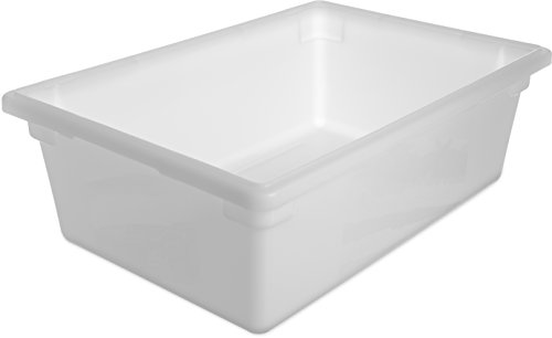 Polyethylene Food Box - Carlisle 1064202 StorPlus Polyethylene Food Storage Box, 12.5 Gallon Capacity, White (Case of 4)