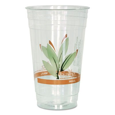 SOLO Cup Company Bare RPET Cold Cups, Leaf Design, 24 oz, 50/Pack, 12 -