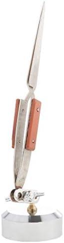 ジュエリー用ピンセット はんだ付け用具 台座付き 宝石類 製作 ツール ステンレス材質