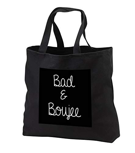 Tory Anne Collections Quotes - Bachelorette Party Bridesmaid T Shirt Tank Top Bad And Boujee - Tote Bags - Black Tote Bag JUMBO 20w x 15h x 5d (tb_292534_3) ()