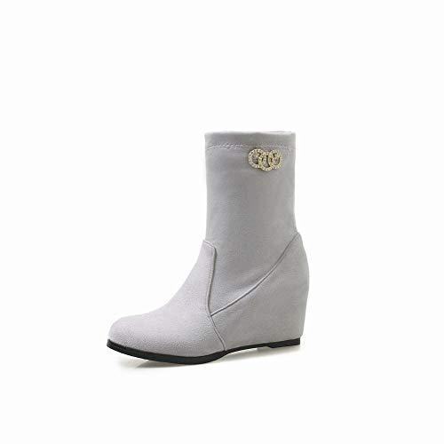 Martin stivaletti Medio Tronchetto Invernale Wsr Alto A 36 Con Boots Stivali 43 taglia Da Fumo Donna Tacco wqzpvPSH