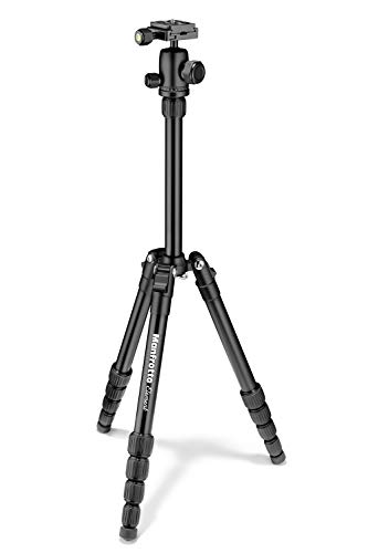 Manfrotto MKELES5BK-BH Tripod, Lightweight Element Traveler, Small-56.3
