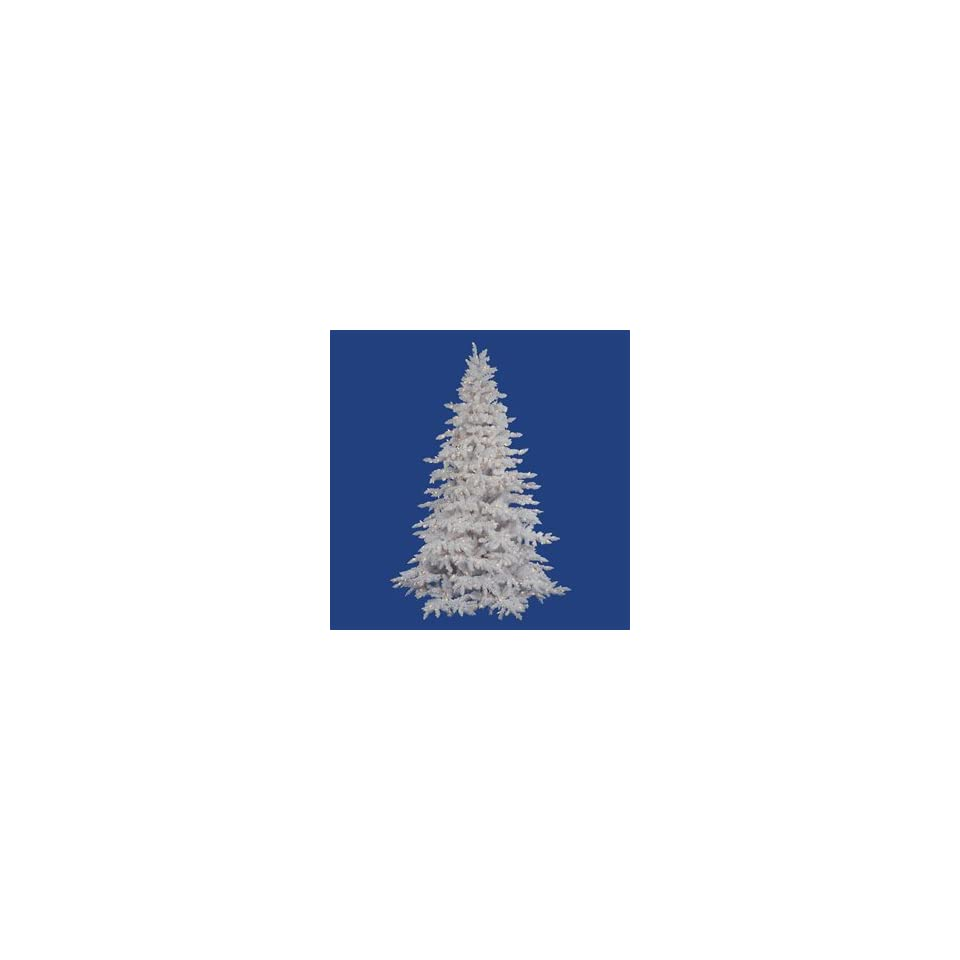 Artificial Christmas Tree. Vickerman Flocked White Spruce Full Pre lit Tree Clear Incandescent