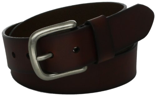 Levi's Men's 100% Leather Belt  with Prong Buckle, Dark Brown, 36