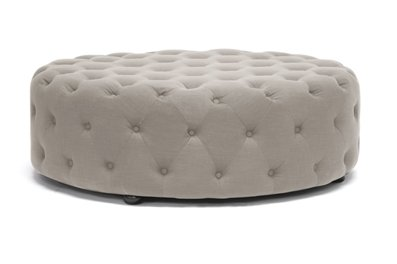 Pleasing Amazon Com Cardiff Beige Linen Modern Tufted Ottoman Gmtry Best Dining Table And Chair Ideas Images Gmtryco