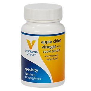 The Vitamin Shoppe Apple Cider Vinegar with Apple Pectin 108 MG A Fermented Superfood with 25 Acetic Acid, Supports Digestive Health (100 Tablets)