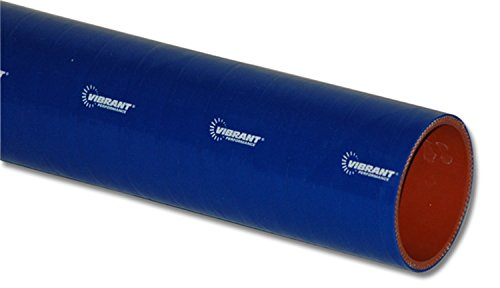 """Vibrant Performance 27051B Blue 1.75"""" I.D. x 12"""" 4-Ply Silicone Sleeve"""