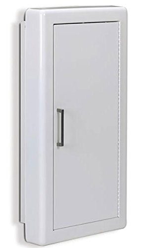 Jl Industries Fire Extinguisher Cabinet White, Semi-Rec, 3