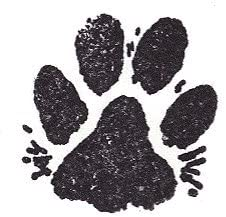 Size: 3//4 Wide X 7//8 Tall Paw Print With Fur 1003B Dog Rubber Stamp