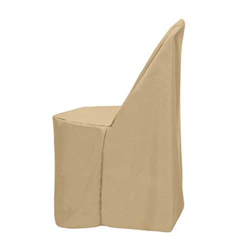 Ultimate Textile (10 Pack) Polyester Folding Chair Cover - for Metal or Plastic Folding Chairs, Camel Light Brown by Ultimate Textile