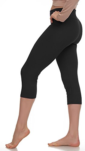 - Lush Moda Extra Soft Leggings - Variety of Colors -Plus Size Yoga Waist - Black (Knit Jersey Pant Slimming)