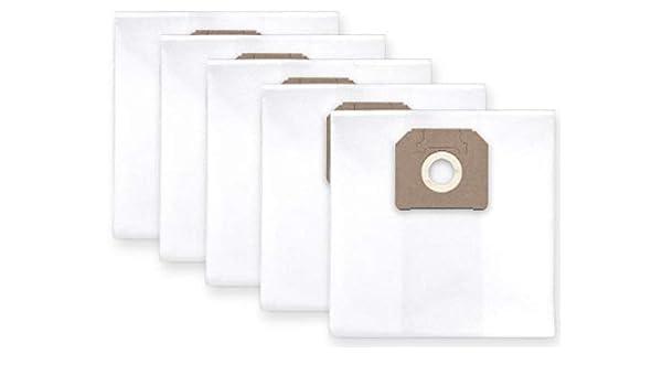 10x bolsas para aspirador tejido Nilfisk Attix 751, 761, 791 ...