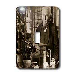 3dRose lsp_27562_1 Thomas Edison In His Lab Antiqued Tone Toggle Switch, Multicolor