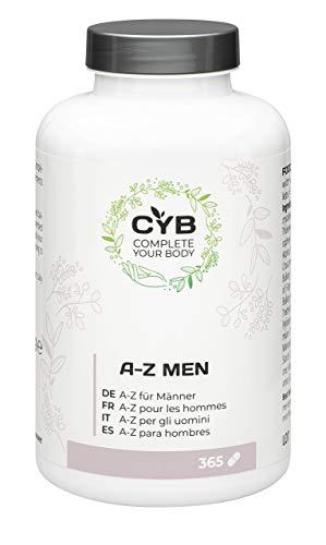 CYB A-Z Vitamine & Mineralien für Männer, 365 vegetarische Tabletten
