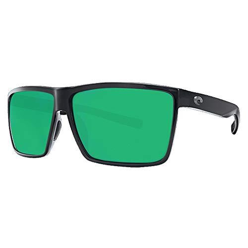 Costa Del Mar Costa Del Mar RIN11OGMP Rincon Green Mirror 580P Shiny Black Frame Rincon, Shiny Black Frame, Green Mirror 580P]()