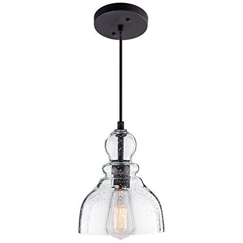 Lanros Industrial Mini Pendant Lighting With Handblown