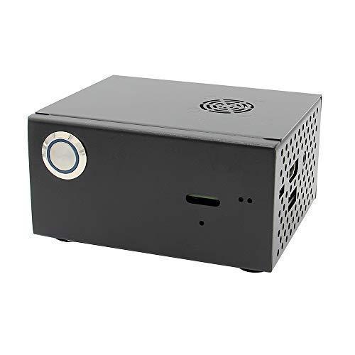 Geekworm Raspberry Pi X820 V3.0 SSD&HDD SATA Storage Board Matching Metal Case/Enclosure + Power Control Switch + Cooling Fan Kit