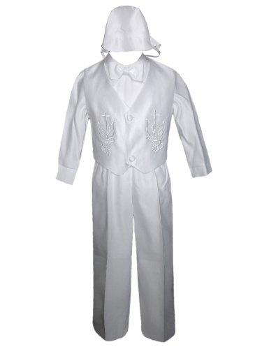 Unotux Baby Boy Christening Baptism White Long Vest Set Suit (0M-36M) (XL:(18-24 months)) by Unotux