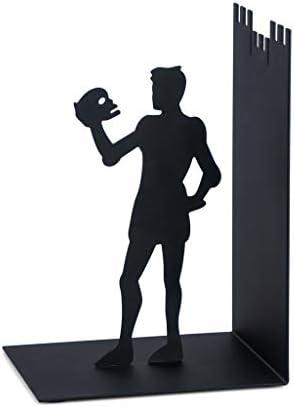 balvi - Hamlet Schwarze Buchstützte aus Metall. Originelles Design
