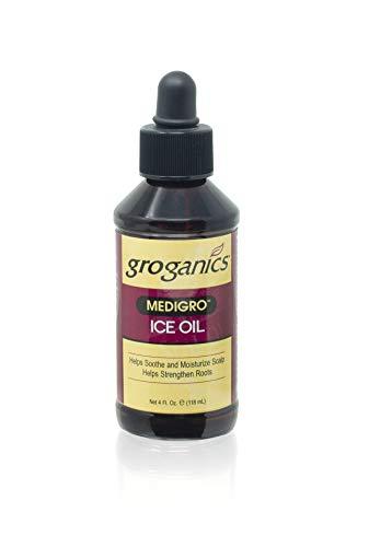 Groganics Medigro Ice Oil, 4 Ounce (Pack of 4)