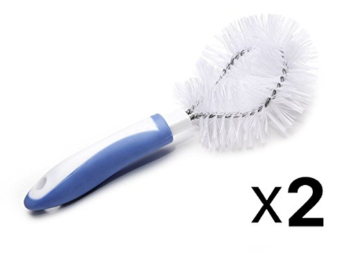 Fox Run White Plastic Vegetable Brush Scrub Dishwasher Safe 5231 (2-Pack) (Brush Run Vegetable Fox)