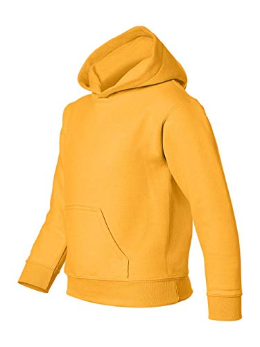 Heavy Blend Youth Hooded Sweatshirt, Color: Gold, Size: Medium