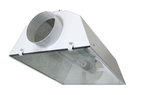 iPower 6 Inch Air Cooled Reflector Hood for HPS MH Grow Light System Kits (Hood Air Kit)