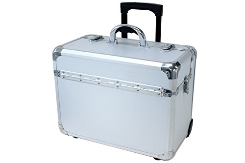 T.Z. Case International T.z Apl-910t Sd Wheeled Pilot Case, 18-1/4 X 10 X 13-3/4 in, Silver