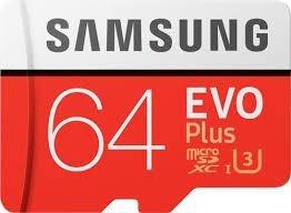 Samsung 64GB EVO Plus Class 10 Micro SDHC with Adapter (MB-MC64GA/IN)