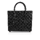 Paloma Medium Black Patent Calfskin - Handbags - Christian Louboutin