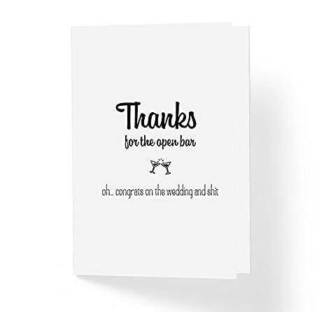Amazon.com: Divertida tarjeta de felicitación de boda ...