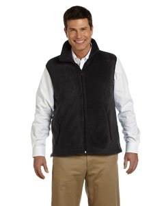Harriton Men's Fleece Vest - Medium - Black