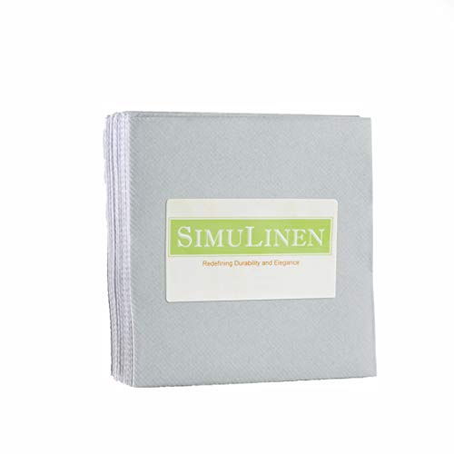 """SimuLinen Cocktail & Party Napkins – GREY Beverage Napkins – Decorative, Absorbent, Cloth Like & Disposable – (10""""x10"""" – Pack of 25)"""