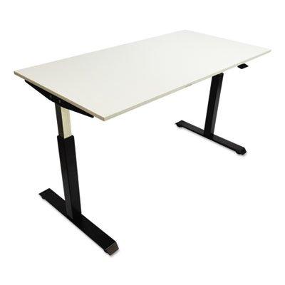 Alera HTPN1B Pneumatic Height-Adjustable Table Base, 26-1/4