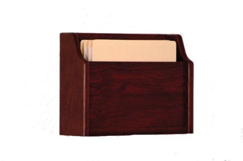 Wooden Mallet Deep Pocket File Holder, Letter Size, Mahogany by Wooden Mallet (Image #2)