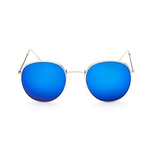 Sunglasses Round Men Sunglasses Women Mirror Luxury Black Male Sunglasses (Sniper Mirror Goggles)