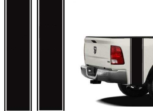 Bubbles Designs 2 X Stickers Truck Bed or Car Stripe Compatible with Dodge Hemi Turbo Ram Pick up