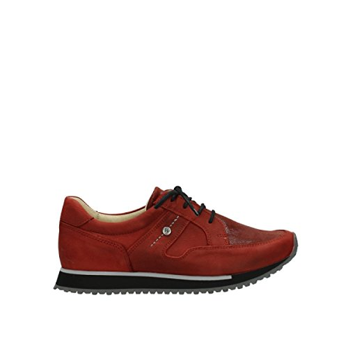 e 20540 Trainers Red Leather Walk Winter Stretch Comfort Wolky UZEqII