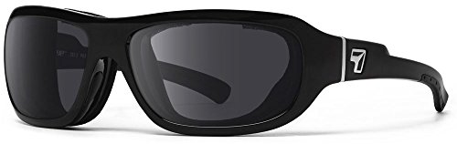 7eye Buran Photochromic Sunglasses, Glossy Black Frame, Grey Eclypse Lens, Small/Large