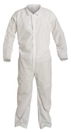 Collared Disp. Coverall, White, 3XL, PK25