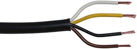 5m Flryy Fahrzeugleitung 4x 1 5mm Rund Kabel Kfz Anhängerkabel Beleuchtung