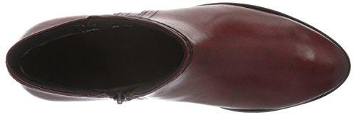 Caprice 25330, Botines para Mujer Rojo (BORDEAUX COMB. 550)