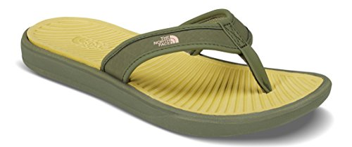 's Base Camp Lite Flip-Flops - Olivenite Yellow and Four Leaf Clover - 8 ()