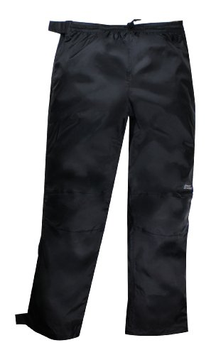 Red Ledge Unisex Adult Thunderlight Full-Zip Pant Full Side Zip Rain Pant,Black,Large