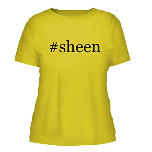 #Sheen - A Nice Hashtag Misses Cut Women's Short Sleeve T-Shirt, Yellow, Large