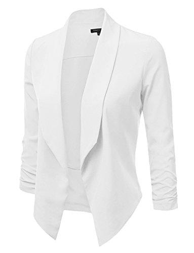 ghtweight Open Front Draped Tuxedo Blazer Jacket ()
